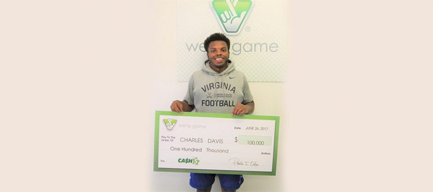 Virginia football player scoops the top prize in Cash 5 game