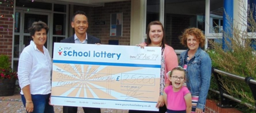 Bella Guy Wins £25,000 Jackpot from Mere School Lottery