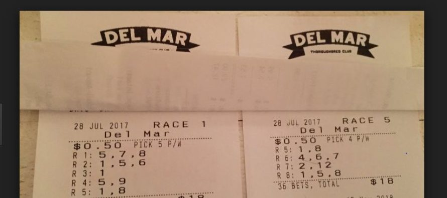 A bettor hits a massive Del Mar jackpot of worth $603,613
