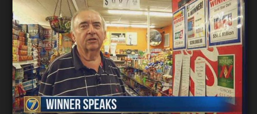 Store owner finally wins $30,000 at his own store