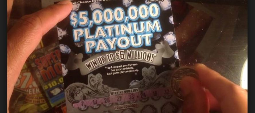 Man wins $100,000 winning prize with a $20 ticket