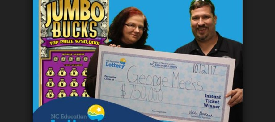A mill supervisor from Gaston County scoops $750,000 lottery prize