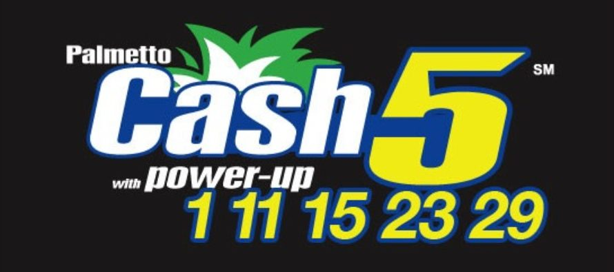 Palmetto Cash 5 ticket matched 5 winning numbers, wins