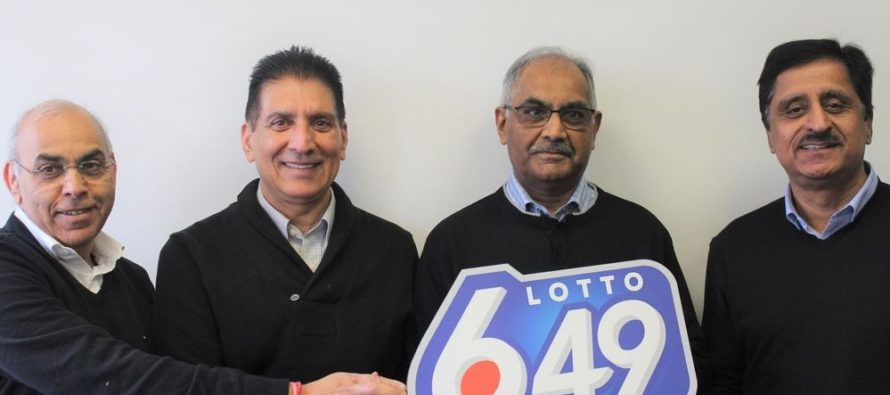 A Group of Four Wins $3.5 Million LOTTO 6/49 Jackpot