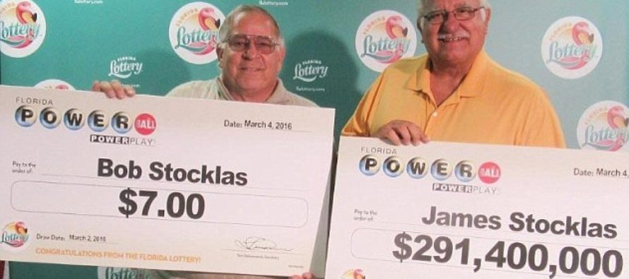 Bob and James Jointly Won $291 Million in Powerball Lottery