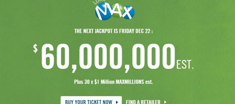 No winners for Friday night's $60 million Lotto Max jackpot
